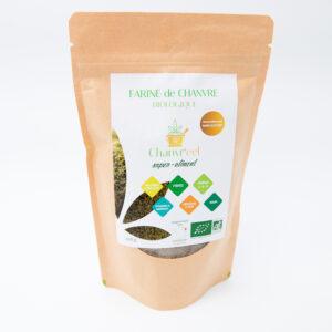 Farine de chanvre Bio Alsace, préparez de bon plat avec cette farine riche en proteines, elle est très digeste et végan, vendu chez oh so green