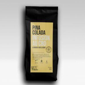 PINA COLADA INFUSION BIO AU CBD 50grammes de plaisir pur, cbd puissant, bon goût ohsogreen. Service, service-après-vente, qualité et sécurité